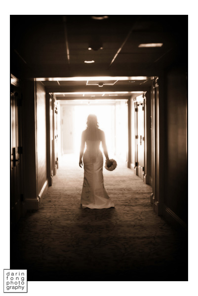 Bride at the Hotel Del Coronado