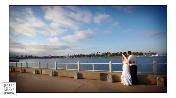 Bride and Groom at The Coronado Community Center